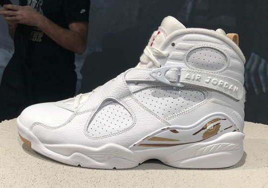 First Look At The OVO x Air Jordan 8 In White