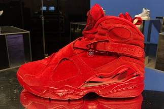 the best attitude 9d481 2f189 All-Red Air Jordan 8 For Valentine's Day Features A Hidden Message