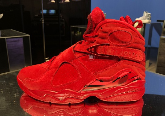 All-Red Air Jordan 8 For Valentine's Day Features A Hidden Message