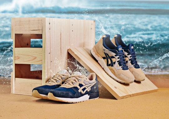 "ASICS Introduces The ""Beach Pack"" In Navy and Marziapan"
