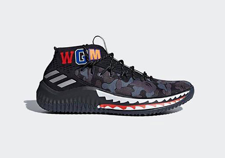 Bape X Adidas Dame 4 Friends And Family Colorway Sneakernews Com