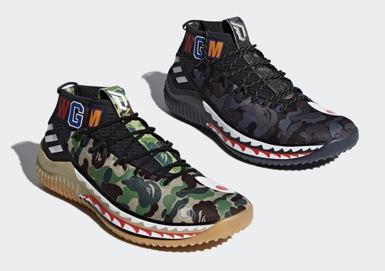 premium selection cf7ea c6154 Detailed Images Of The BAPE x adidas Dame 4 Have Emerged