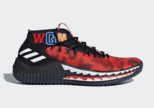 The BAPE x adidas Dame 4 Has A Friends And Family Colorway