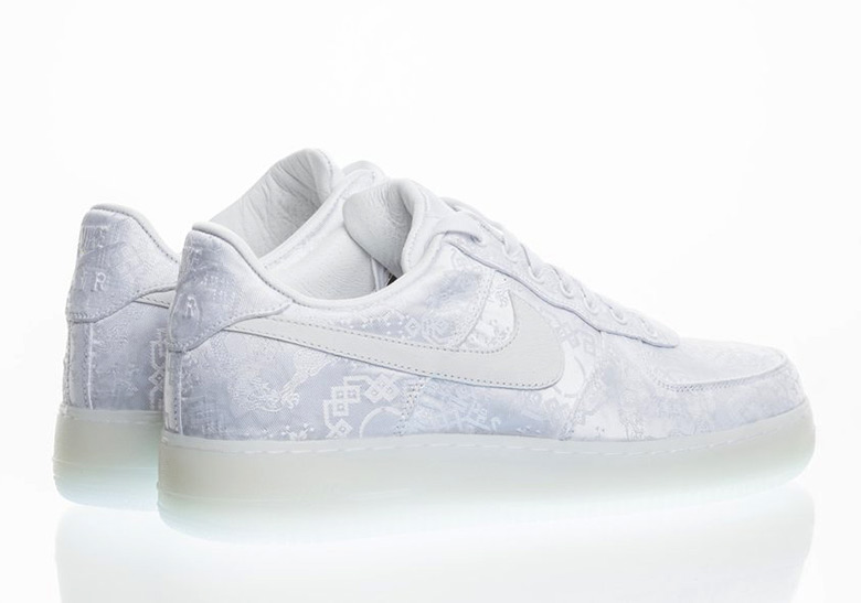 bdf810bc51a CLOT Nike Air Force 1 White Release Date