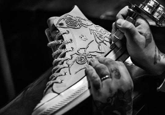 Tattoo Artist Dr. Woo Inks Up Two Converse Chuck 70s