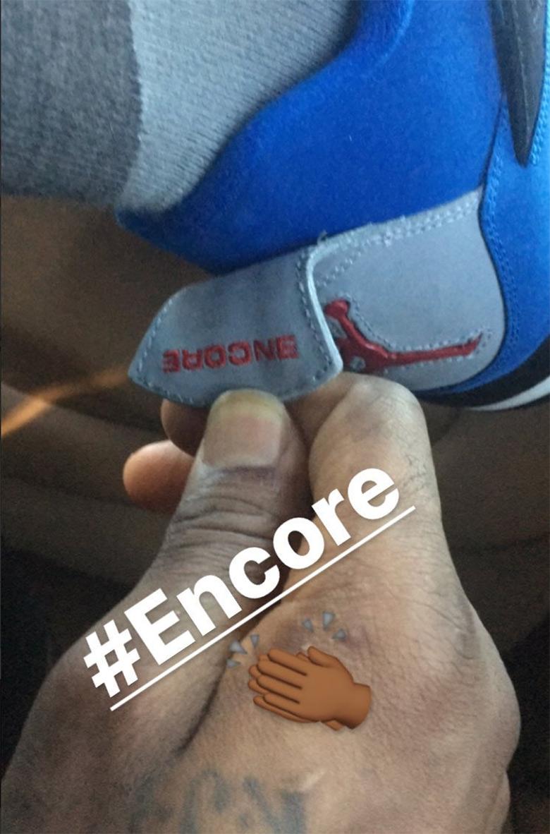 LeBron James Gets Air Jordan 4 \