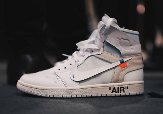OFF WHITE x Air Jordan 1 In White Debuts At Paris Runway Show