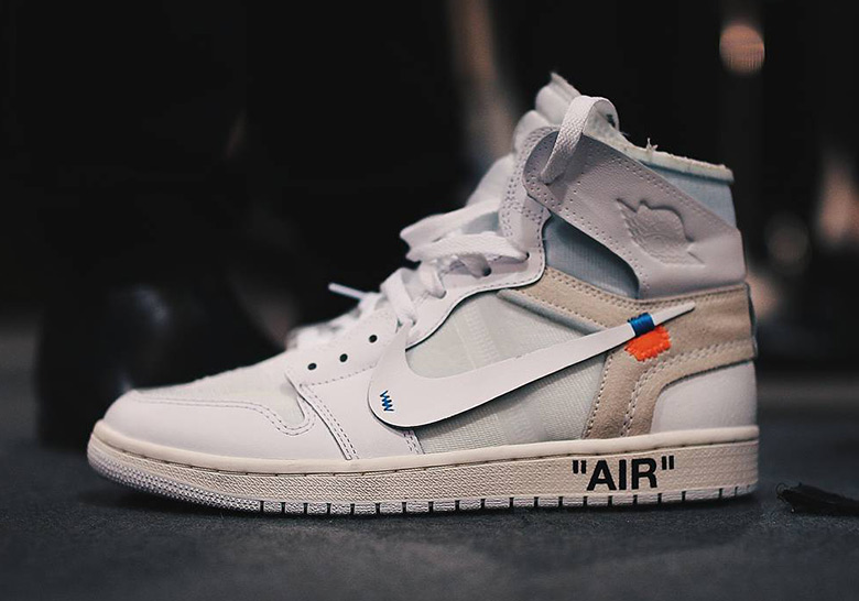 1a743900e28b OFF WHITE x Air Jordan 1 In White Debuts At Paris Runway Show