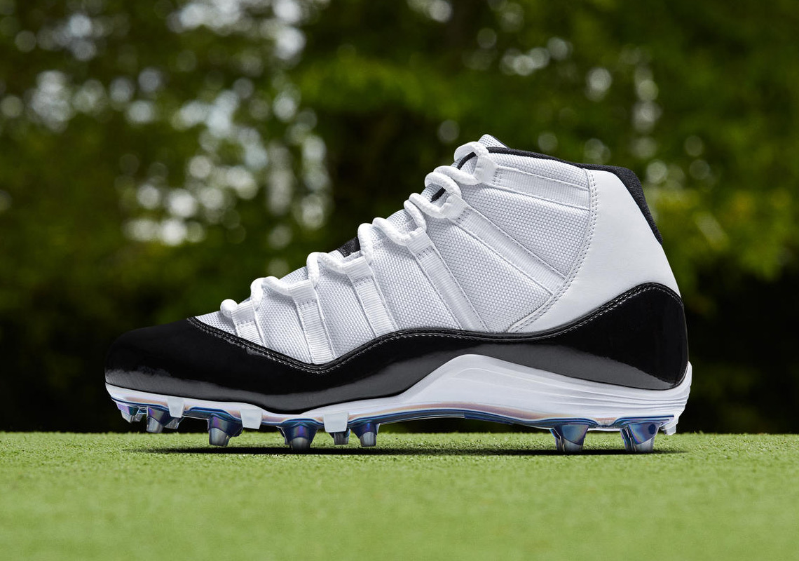 "Air Jordan 11 ""Concord"" Cleats To Debut At NFL Playoffs"