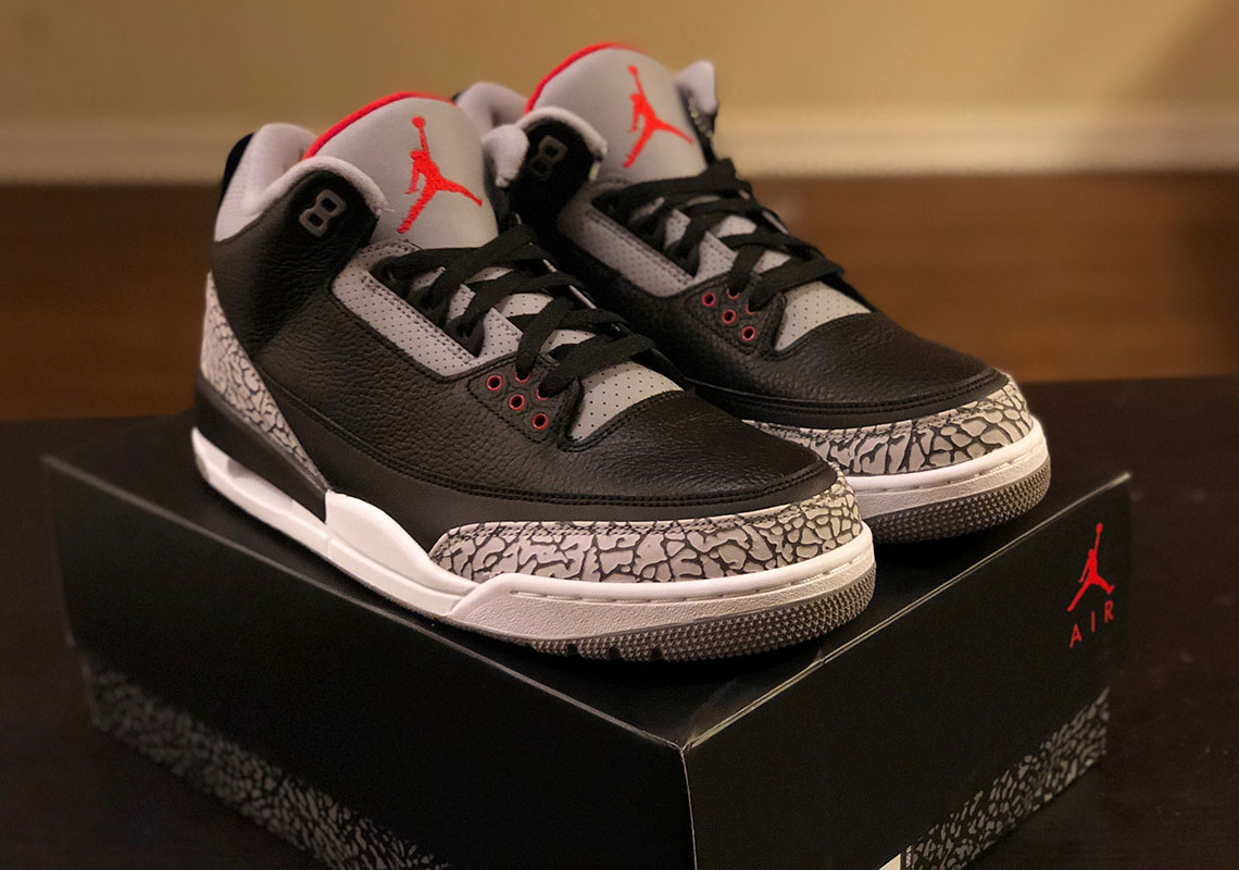 first rate 219d0 deb3e ... cement grey 854262 001 45927 6d2f7  order air jordan 3 retro og release  date february 17th 2018 200. color black fire