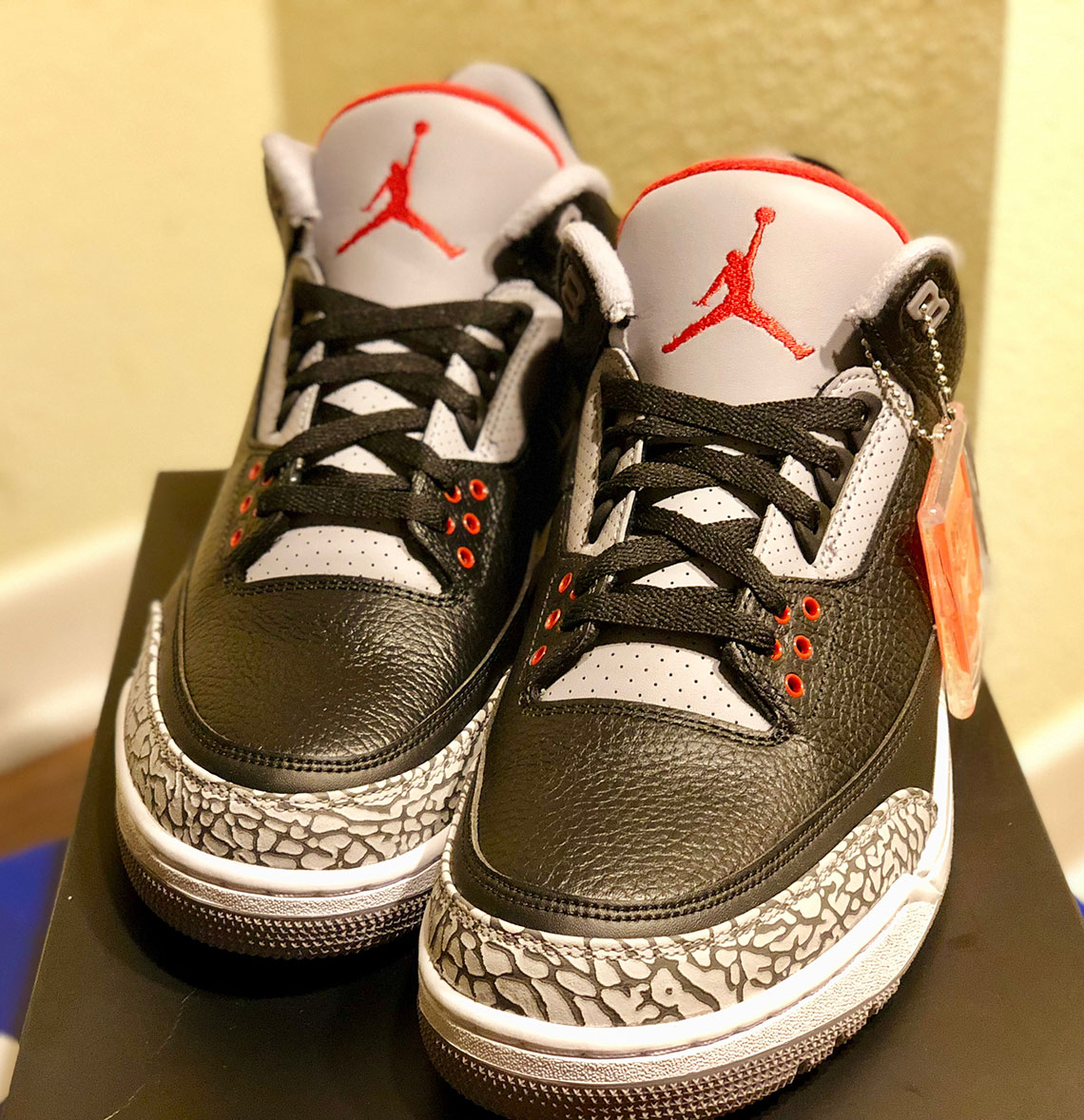 save off 899d1 3831f Jordan 3 Black Cement February 2018 Release Date 854262-001 ...