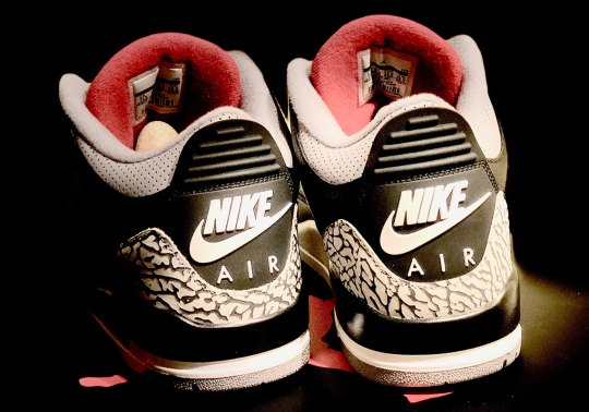 "Best Look Yet At The Air Jordan 3 ""Black Cement"" With Nike Air"