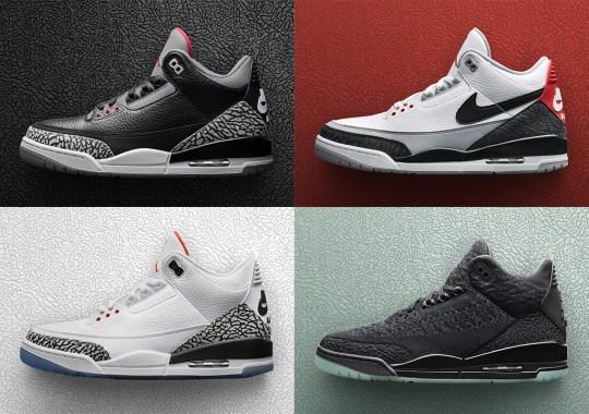Jordan Brand Unveils Four Air Jordan 3 Retro Releases For Spring 2018