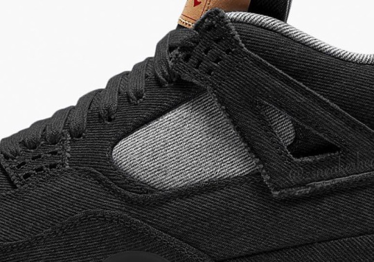 A Black Denim Version Of The Levi's x Air Jordan 4 Collaboration Rumored To Release In June