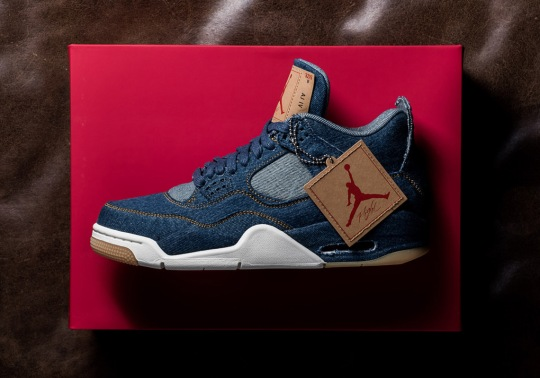 The Levi's x Air Jordan 4 Retro Releases Tomorrow