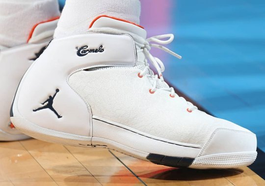 Carmelo Anthony Breaks Out Brand New Colorway Of The Jordan Melo 1.5