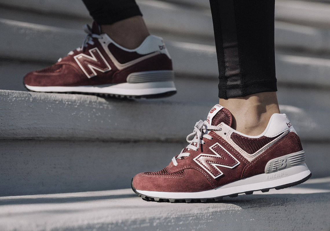 new balance 574 classic on feet