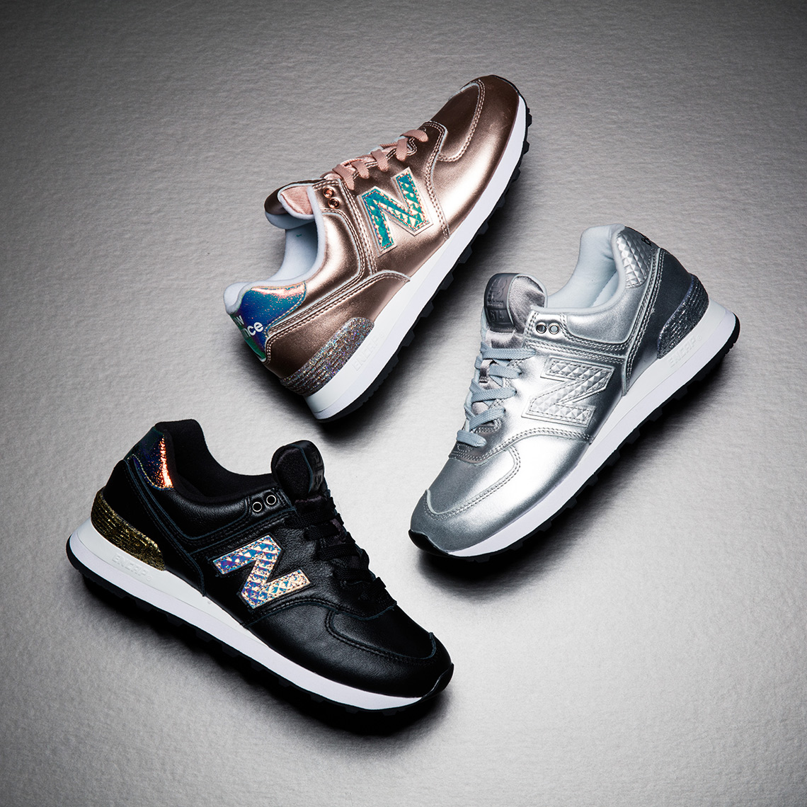 """37464e623a40 Get the New Balance 574 """"Glitter Pack"""" tomorrow on NewBalance.com and  select retailers."""
