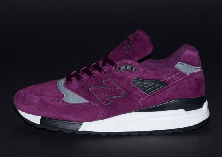 buy popular da9f7 ce077 A Clean New Balance 998 Arrives In Purple Suede