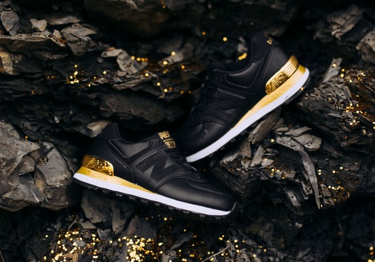 The New Balance 574 Arrives In Black And Metallic Gold
