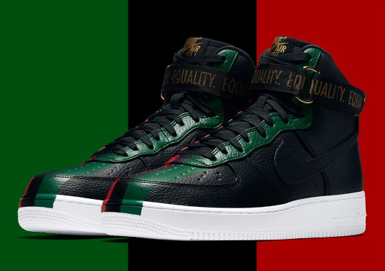 """Official Images Of The Nike Air Force 1 High """"BHM"""""""
