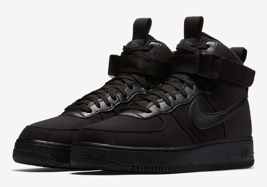 "Nike Air Force 1 High ""Triple Black"" In Canvas"