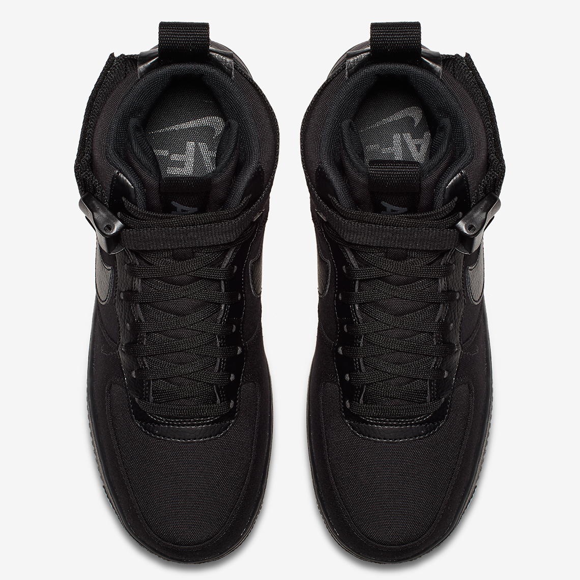 7381cdad1e0f Nike Air Force 1 High Triple Black Canvas AH6768-001 Release Info ...