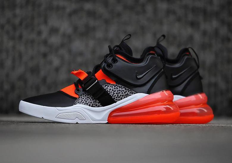 Orange Black Under Armour Shoes