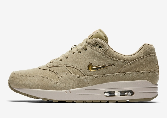 hot sale online aa14a 6123b Nike Adds Neutral Olive To The Air Max 1 Jewel