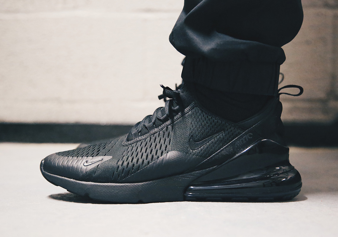 on sale 97a11 312c5 Nike Air Max 270 Triple Black AH8050-005 | SneakerNews.com