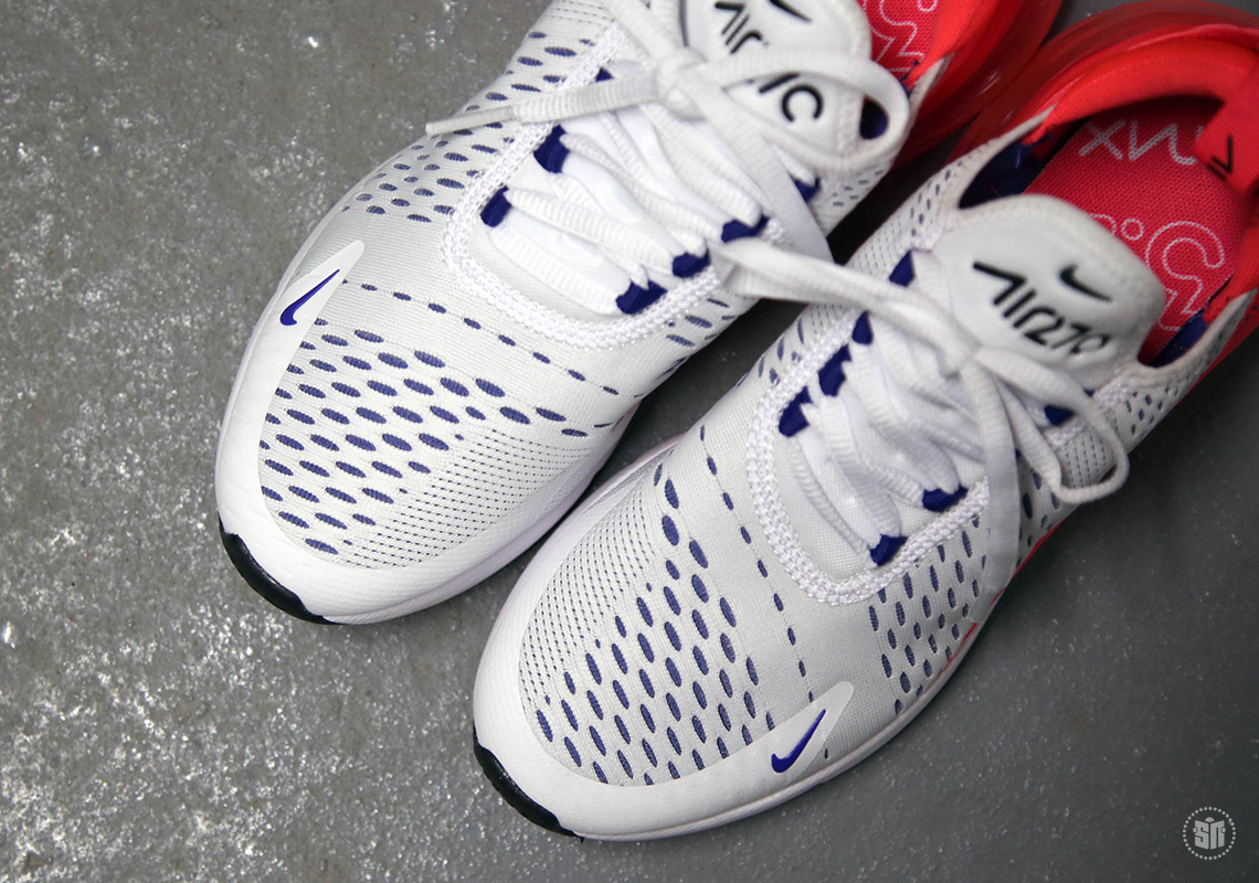 Nike Air Max 270 White Ultramarine Solar Red AH6789-101 ...
