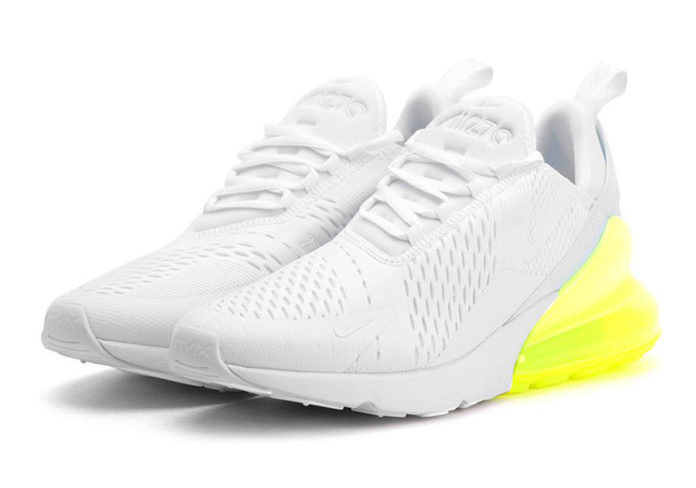 buy popular 6dd06 2a8a9 Nike Air Max 270 White and Volt AH8050-104 Coming Soon   SneakerNews.com