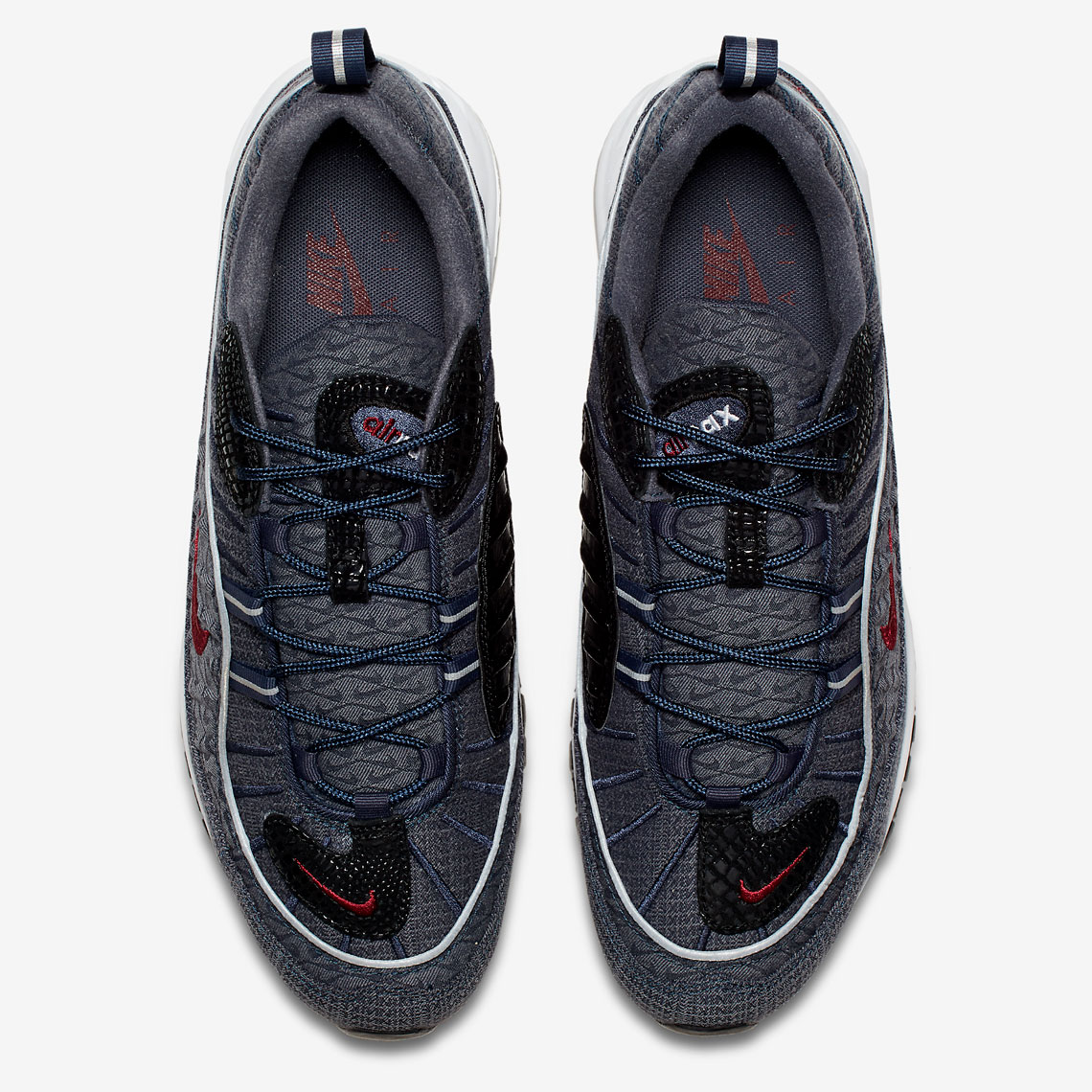 reputable site 43b63 6c1c5 Nike Air Max 98. Color Thunder BlueTeam Red-Diffused Blue