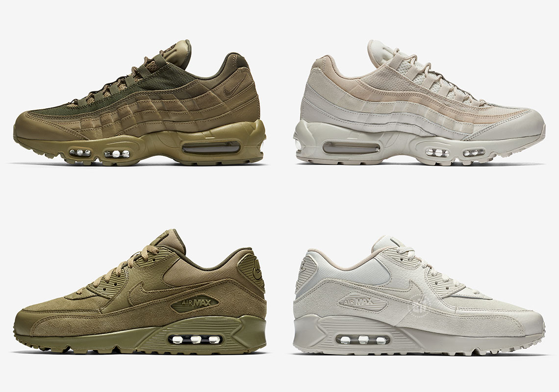 Nike Brings Tonal Khaki And Olive To Premium Air Max Icons