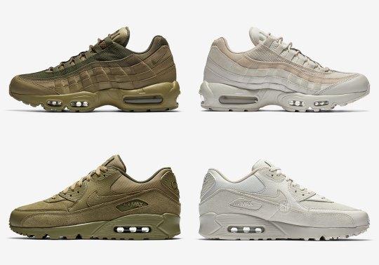 Nike Brings Tonal Khaki And Olive To Premium Air Max Icons