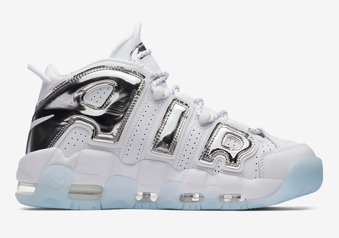 Nike Air More Uptempo White Chrome Blue Tint 917593 100
