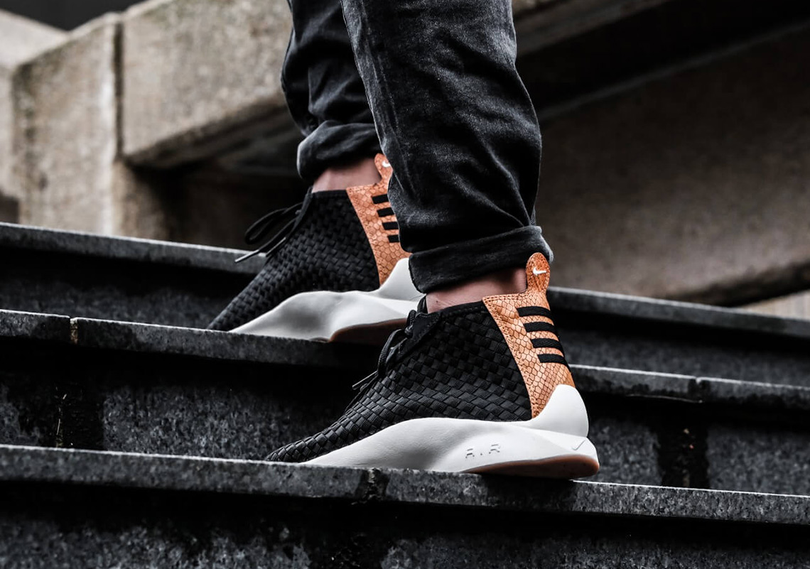 newest collection aa207 10005 The Nike Air Woven Boot Adds Snakeskin Leather On The Heel