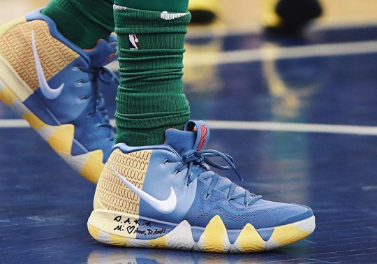 Kyrie Irving Debuts A Nike Kyrie 4 PE In London Game