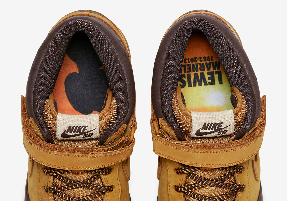online store 34b78 7ff53 Nike SB Dunk Mid Wheat Lewis Marnell AJ1445-200 ...