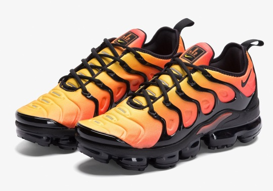 "The Nike Vapormax Plus Is Releasing In The Original ""Sunset"" Colorway"