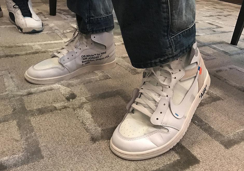 OFF WHITE x Air Jordan 1 In White Rumored For February Release