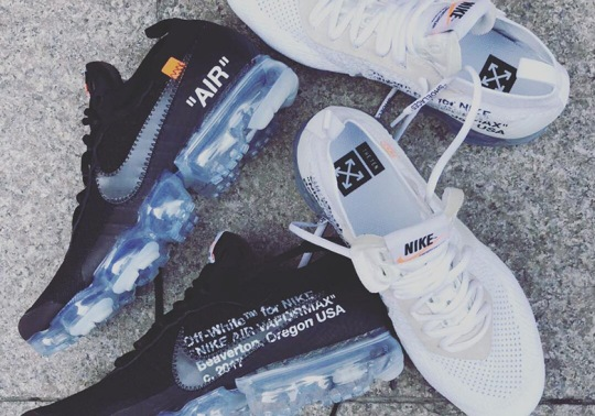 OFF WHITE x Nike Vapormax Releasing In February In Two New Colorways