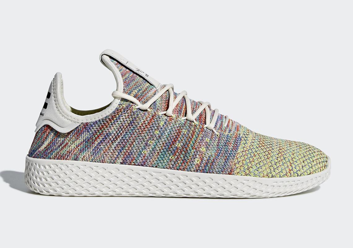multicoloured Pharrell Williams Tennis HU sneakers adidas xahVfg