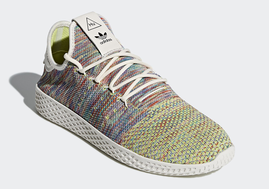 "28cbafc94fb02 Pharrell x adidas Tennis Hu ""Multi-Color"" Global Release Date  March 2nd"