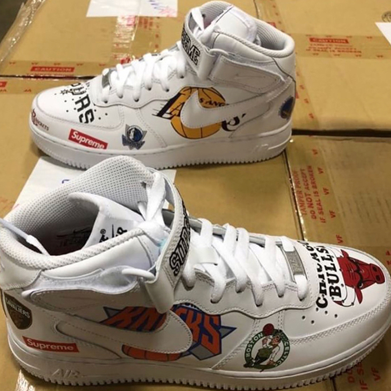 Supreme x Nike Air Force 1 Mid  07. Release Date  Spring Summer 2018  165.  Color  White White 19d062dee4eb