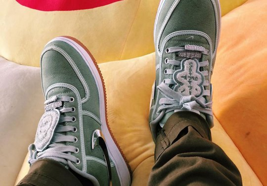 """Chase B Reveals A Travis Scott x Nike Air Force 1 In """"Cactus Green"""""""