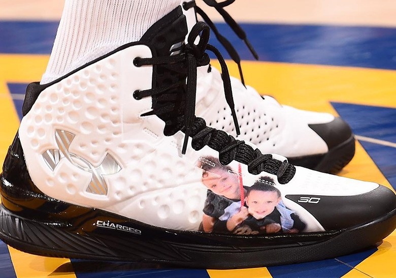 steph curry ua curry 1 shoes photo of daughters riley and ryan