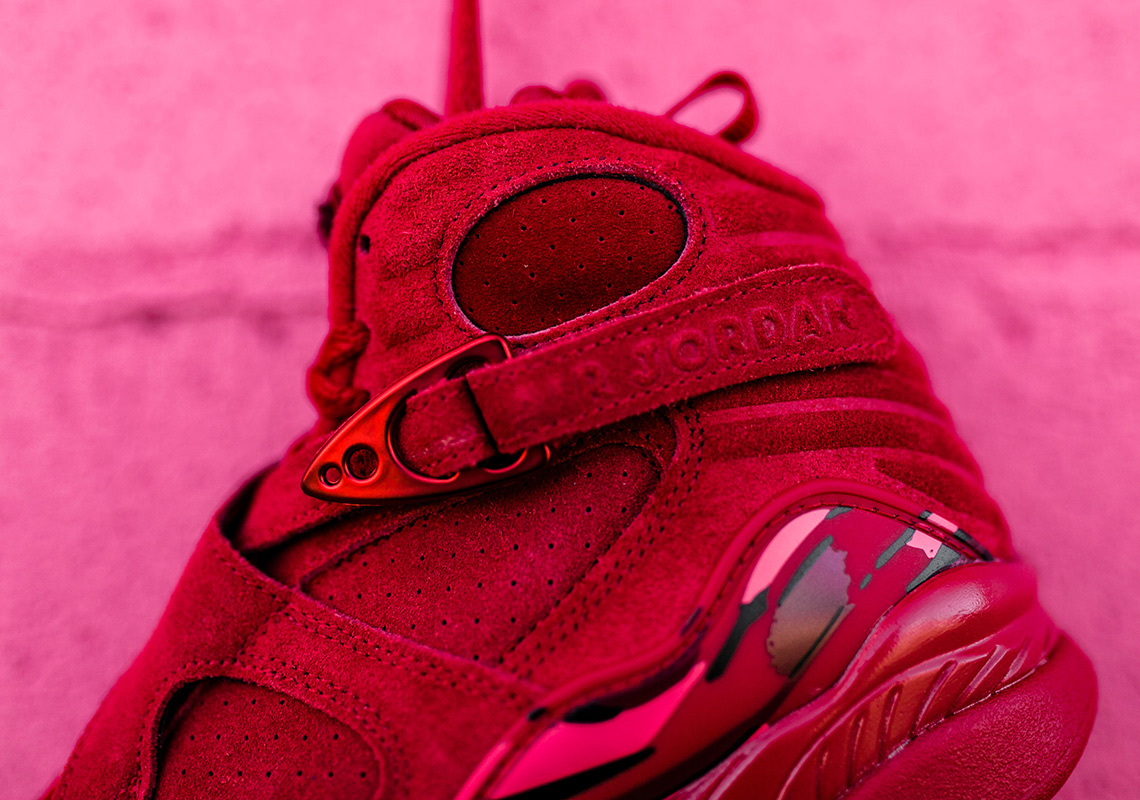 new arrival 57940 856bd Jordan 8 Valentines Day Red Suede - Release Info ...