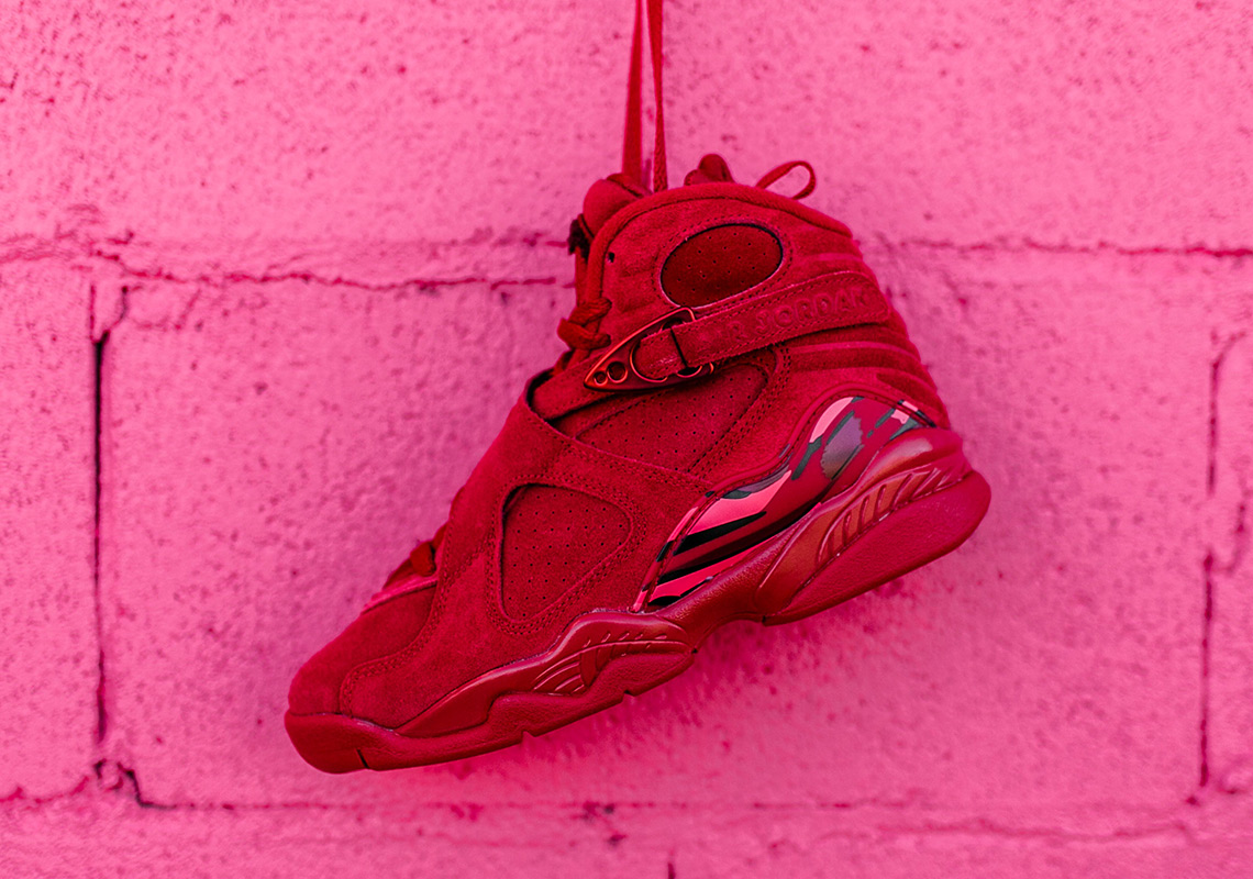 7fd07b1733e1 Jordan 8 Valentines Day Red Suede - Release Info