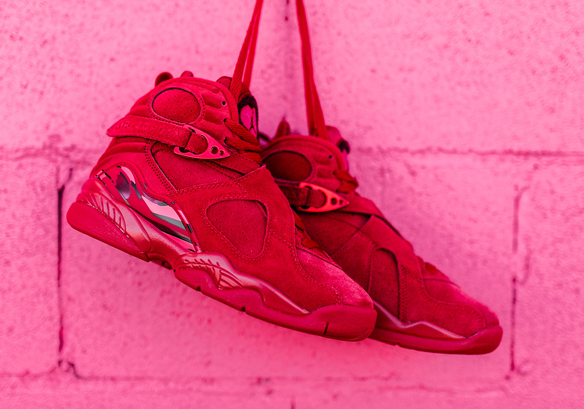 984b697f44b8 Jordan 8 Valentines Day Red Suede - Release Info